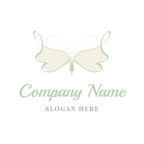 Graceful Butterfly Paint logo design