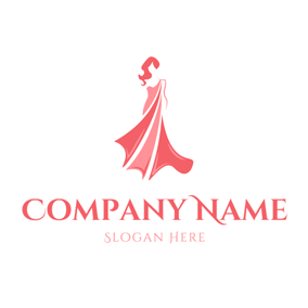 Graceful Woman and Red Skirt logo design