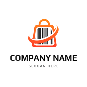 Gradient Color Handbag Barcode logo design