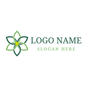 Gradient Green Blossom logo design