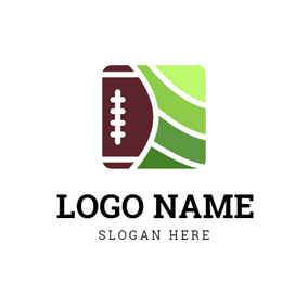 Gradient Green Field and Football logo design