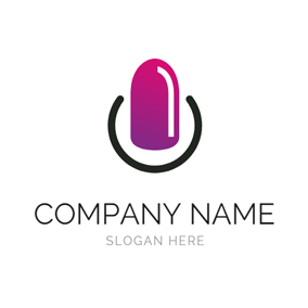 Gradient Ramp and Fingernail logo design