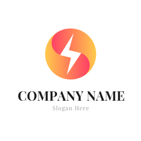 Gradient Ramp and Lightning Bolt logo design
