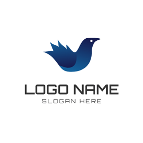 Gradient Ramp Raven Icon logo design