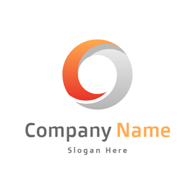 Gradient Red and Grey Circle logo design