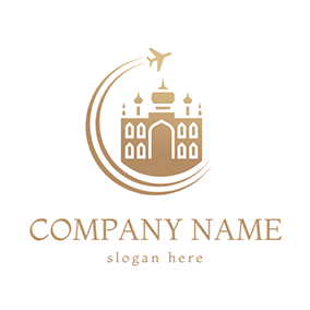 Grand Hotel and Airplane logo design