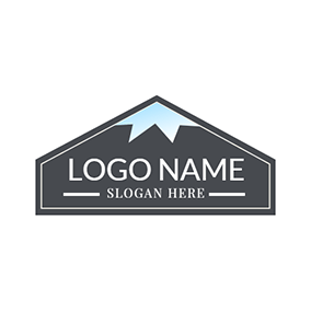 Gray Badge and Blue Sky logo design