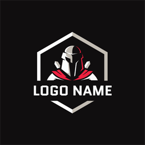 Gray Badge and Knight logo design