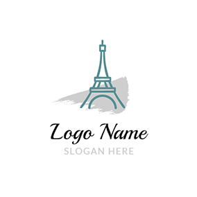 Gray Decoration and Eiffel Tower logo design
