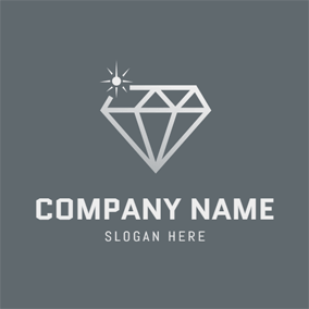 Gray Diamond and Laser logo design