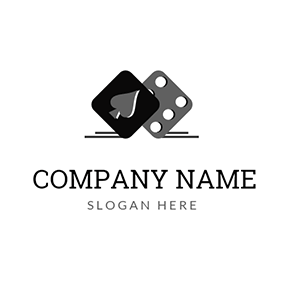 Gray Heart and Black Dice logo design
