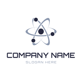 Gray Orbit and Black Atom logo design