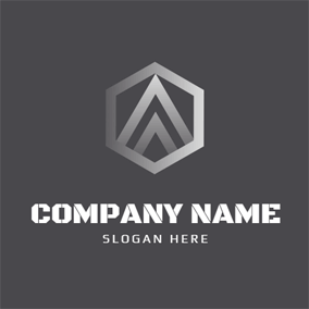 Gray Polygon and Steel logo design