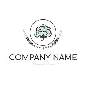 Green and Black Cotton logo design