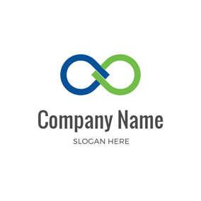 Green and Blue Infinity logo design