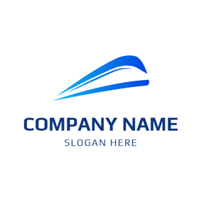 Green and Blue Train logo design