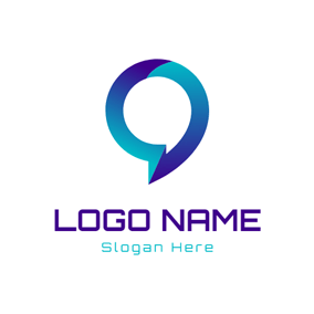 Green and Purple Bubble logo design