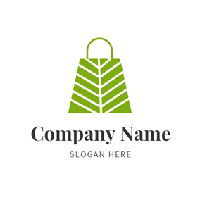 Green and White Bag logo design