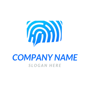 Green and White Fingerprint logo design