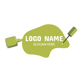 1d2e0b5b37d White Human Skeleton Icon · Green and White Nail Polish logo design