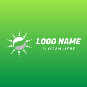 Green and White Shiny Globe logo design