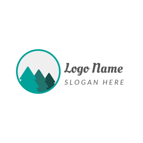 Green and White Tree logo design