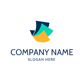 Green and Yellow Paper logo design
