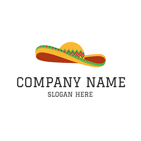 Green and Yellow Sombrero Icon logo design
