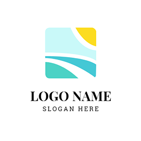 Green and Yellow Square logo design