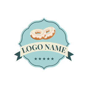 Green Badge and Doughnut logo design