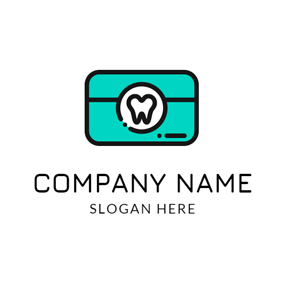 Green Box and White Teeth logo design