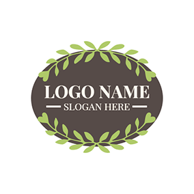 Green Branch and Brown Badge logo design