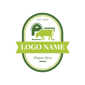 Vivifying Green Sprout Bull And Stock Farming Logo Design