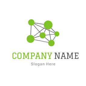 Green Circle and Gray Structure logo design