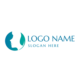 Green Circle and White People logo design