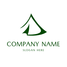 Green Circle and White Tent logo design