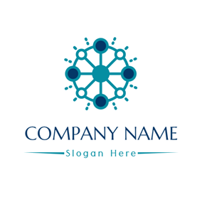 Free business consulting logo designs designevo logo maker green contact network logo design altavistaventures Choice Image