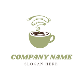 Green Cup and Chocolate Coffee logo design