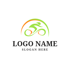 Green Decoration and Bike logo design