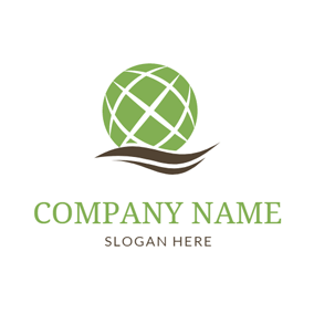 Green Earth and Brown Decoration logo design