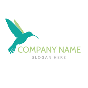 Green Flying Bird logo design