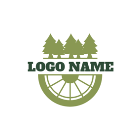 Green Forest and Cycling logo design