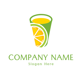 Green Glass and Yellow Juice logo design