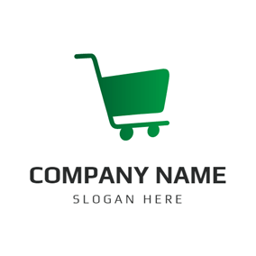 Green Hand Trolley logo design