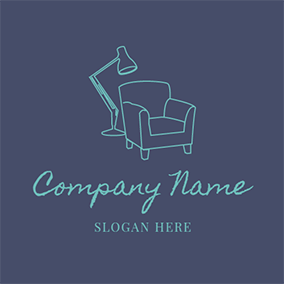 Green Lamp and Sofa logo design