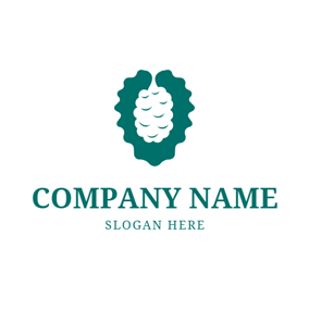 Green Leaf and Mulberry logo design