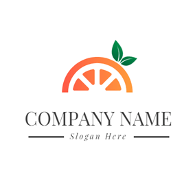Green Leaf and Orange Arch logo design