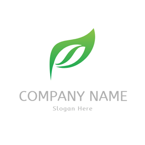 Green Leaf and Seed logo design