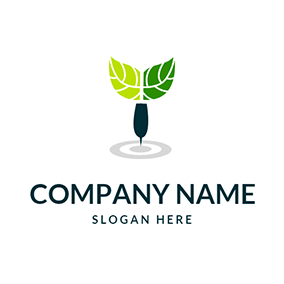Green Leaves and Blue Dart logo design