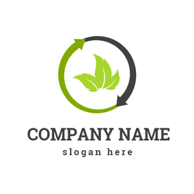 Green Leaves Recycling logo design